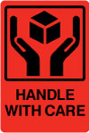 Handle With Care Shipping Labels.
