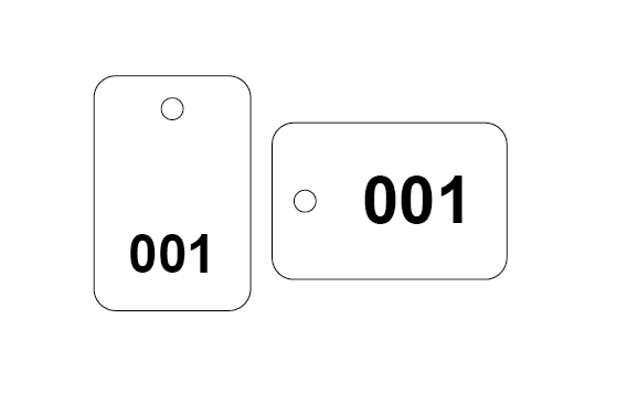 Plastic Tags - Numbered