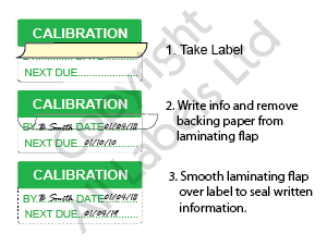 Write On Labels - Self Laminating