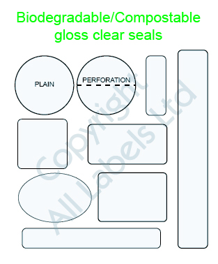 Clear seals - Biodegradable