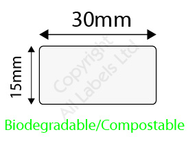 Biodegradable 15mm x 30mm Clear Seal