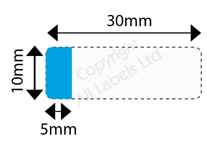 Cable Marker 10mm x 30mm with 5mm x 10mm white or coloured panel