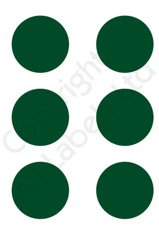 Coloured Dots - Green