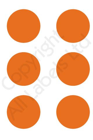 Coloured Dots - Orange