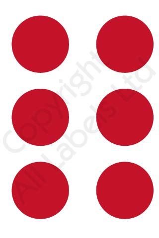 Coloured Dots - Red