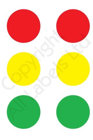 Coloured Dots - Radiant Green / Red or Yellow