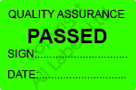 Quality Assurance Passed Labels - Self Laminating