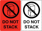 Do Not Stack Shipping Labels.
