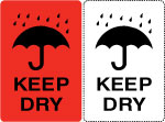 Keep Dry Shipping Labels.