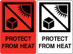 Protect From Heat Shipping Labels.