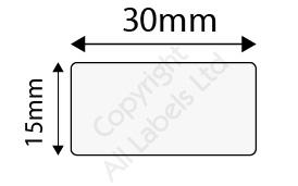 15mm x 30mm Clear Polypropylene Seal