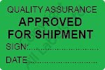 Quality Assurance Approved Labels - Self Laminating