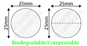 Biodegradable 25mm Clear Seal