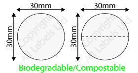 Biodegradable 30mm Clear Seal