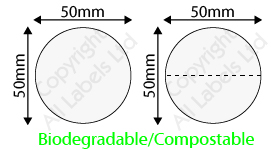 Biodegradable 50mm Clear Seal