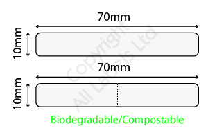 Biodegradable 10mm x 70mm Clear Seal