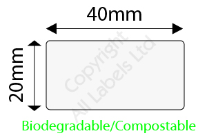 Biodegradable 20mm x 40mm Clear Seal