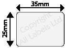 25mm x 35mm Clear Polypropylene Seal