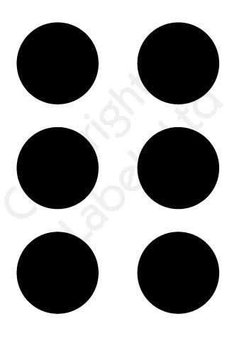 Coloured Dots - Black