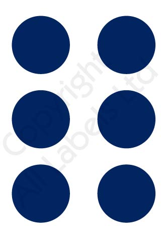 Coloured Dots - Dark Blue