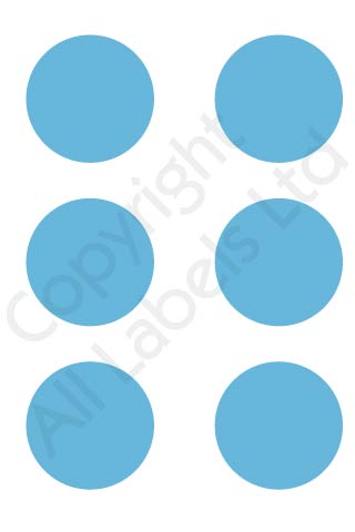 Coloured Dots - Light Blue