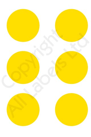 Coloured Dots - Yellow
