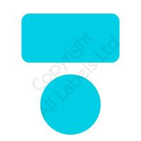 Non Transfer BLUE Polyester Tamper Evident Seals