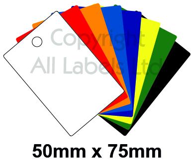 Blank Plastic Tags 50mm x 75mm