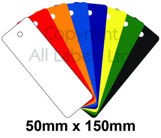 Blank Plastic Tags 50mm x 150mm