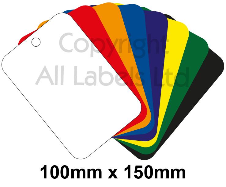 Blank Plastic Tags 100mm x 150mm