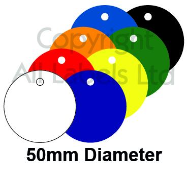 Blank Plastic Tags 50mm Diameter