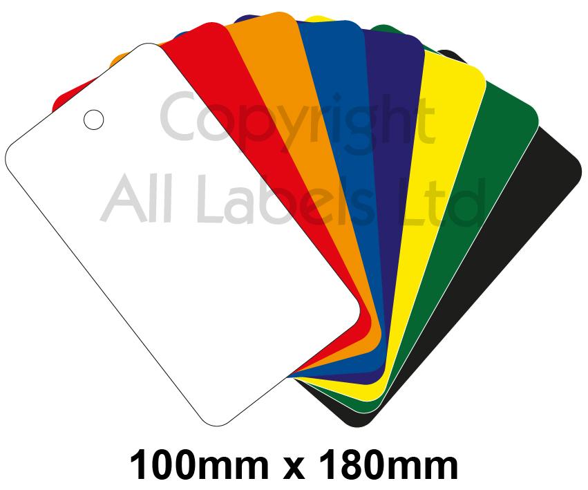 Blank Plastic Tags 100mm x 180mm