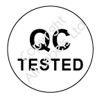 Circular Quality Control Tested Labels