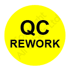 Circular Quality Control Rework Labels