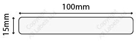 15mm x 100mm Clear Polypropylene Seal