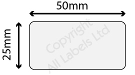 25mm x 50mm Clear Polypropylene Seal