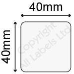 40mm Square Clear Polypropylene Seal