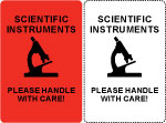 Scientific Instruments Shipping Labels.
