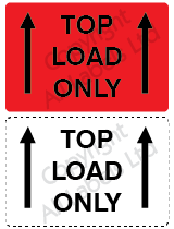 Top Load Only Shipping Labels