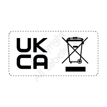 UKCA & WEEE combined logo labels - Economy