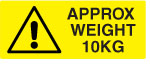 10KG Weight Warning Labels.