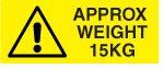 15KG Weight Warning Labels.