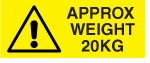 20KG Weight Warning Labels.