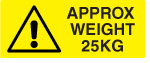25KG Weight Warning Labels.