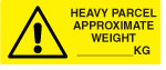 Approximate Weight Warning Labels.