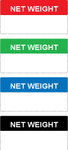 Write On Net Weight Labels