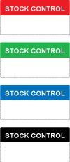 Write On Stock Control Labels
