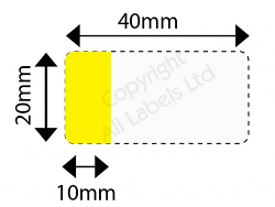Cable Marker 20mm x 40mm with 10mm x 20mm white or coloured panel