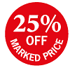 25% Off Marked Price Labels