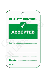 Accepted Quality Control Tags